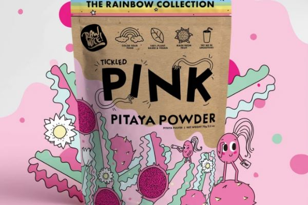 Pink Pitaya Powder for vegan smoothie bowls recipes