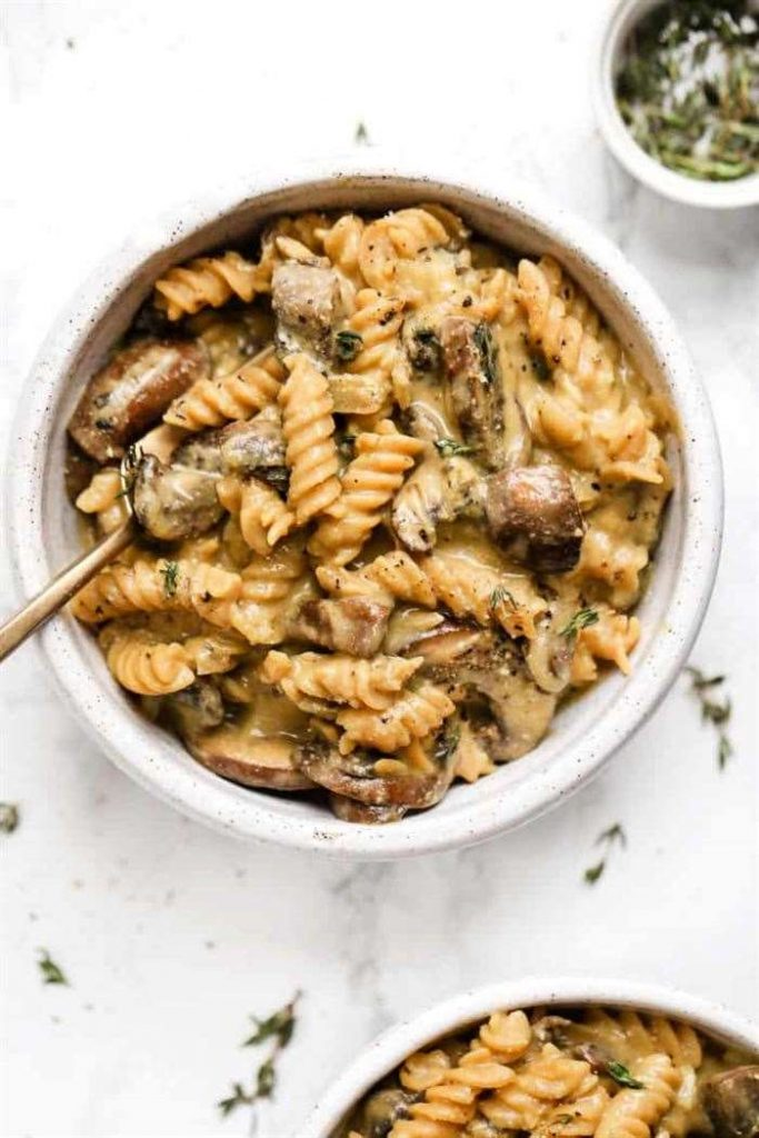 Delicious vegan mushroom stroganoff recipe
