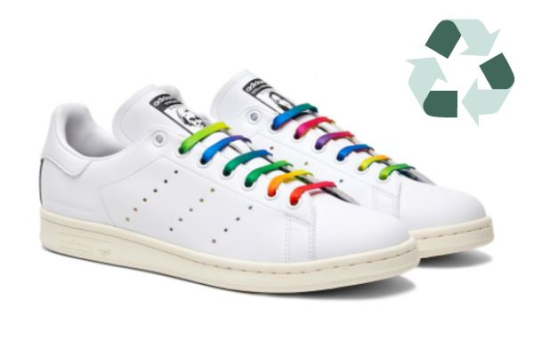 adidas vegan shoes with thick rainbow shoelace