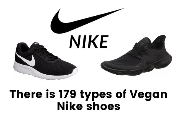 There is 179 types of vegan nike shoes