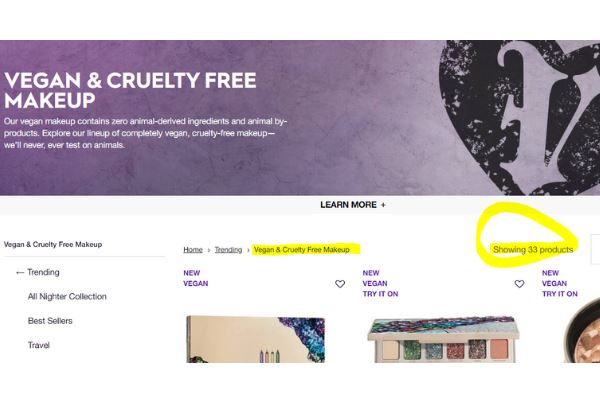Is Urban Decay Vegan Products