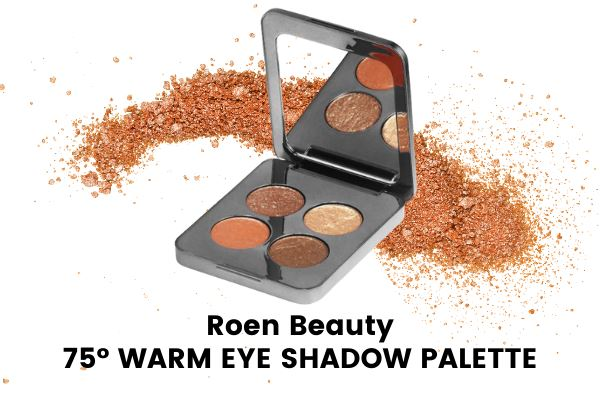 roen beauty 75 degree warm eye shadow palette