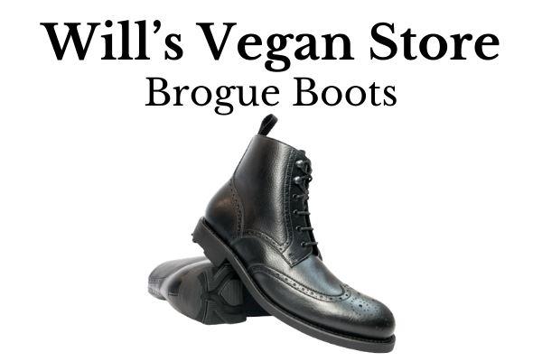 Best Vegan Men's Dress Shoes Will's Vegan Store Brogue Boots