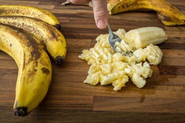 vegan chocolate chip pancakes mashed banana